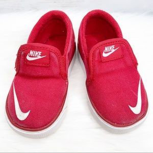 Nike Red White Casual Slip on Sneakers